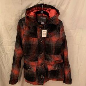 Jackets & Blazers - Hooded Wool Peacoat